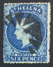 MOMEN: ST HELENA SG #2a ROUGH 1861 USED £140 LOT #5172