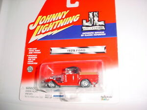 JOHNNY LIGHTNING JL COLLECTION 1929 FORD TRUCK RED FREE USA SHIPPING