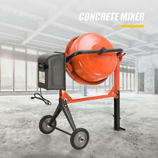 4-1/5 cuft Concrete Cement Mixer Barrow Machine Portable Electric Mixing Mortar