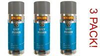 3X  HYCOTE Grey Primer Spray Paint 400ML Aerosol HYCOTE      *GREY PRIMER*