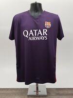 Messi FCB Barca Jersey Size S /M Qatar Airways Rass Sport Football Soccer Stripe