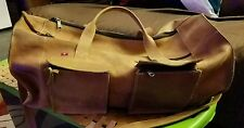 Belt Leather 20 inch natural gym or weekender bag