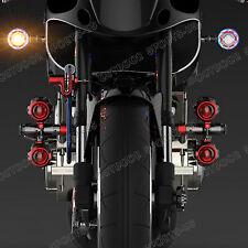 LED Turn Signals Light Indicator Brake Lights Tail Lamp For Kawasaki Angel Eyes