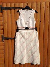 Marks & Spencer Perles Paillettes Haut et jupe d'été Costume deux pièces 14 16