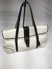 Classic Classy Genuine Coach Black & White Leather Hard to Find Love this bag!