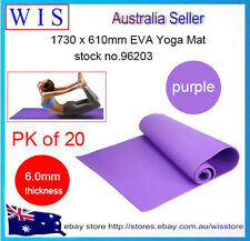 20 x 6mm EVA Yoga Mat,Non-slip Pad for Exercise Fitness Pad Lose Weight,Purple
