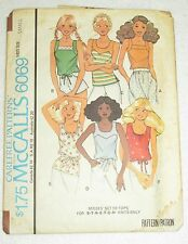 Vintage Sewing Pattern~McCall's~6069~Misses SMALL ~Set of tops for stretch knit