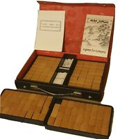 Vintage Gibsons Mahjong Bamboo Backed Pieces Small Suitcase Travel