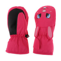 Winter Waterproof Kids Skiing Mitts Mittens Boys Girls Baby Snow Warm Gloves