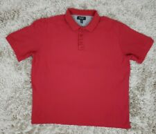 Nordstrom Mens Shop Red Short Sleeve Polo Shirt Size XL