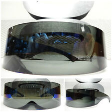 ALIEN ROBOT COSTUME PARTY CLUB RAVE COOL CYCLOPS FUTURISTIC SHIELD SUN GLASSES