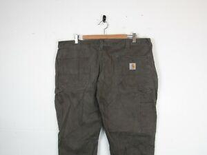 "Carhartt Mens Coffee Brown Straight Leg Workwear Trousers Carpenters |40""x30"""