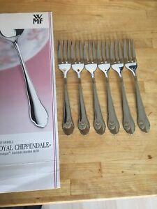 WMF Royal Chippendale Cromargan Besteck 6 Kuchengabel Top Zustand mehrere da