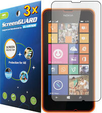 3x Clear Lcd Screen Protector Guard Shield Cover Film for Nokia Lumia 630 635
