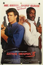 LEATHAL WEAPON 3  Mel Gibson  D Glover - Original Movie Poster 1992 Rolled DS C9