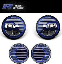 Extreme Blue+LED Headlight+Turn Signal+Running Light for 07-17 Jeep JK Wrangler