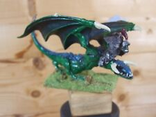 CLASSIC METAL WARHAMMER ORC WARBOSS ON WYVERN MISSING ARM PAINTED (L)