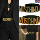 Womens MOSCHINO Leather Belts Fashion Letters Smooth Ladies Dress Waistband Belt