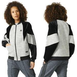 adidas Originals Womens Regista Retro Velour Trim Zip Up Track Top Sports Jacket