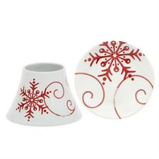 Yankee Candle 'Snowflake' Small Ceramic Small Shade & Tray Brand New