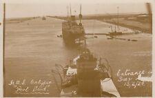 PORT SAID ( Egypt) : HMS Calypso  -Entrance to Suez 13/2/24 RP