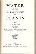 SCIENCE NATURAL HISTORY BOTANY PLANTS PHYSIOLOGY WATER OSMOSIS