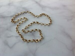 "18"" 9ct yellow Gold round belcher Chain weight 10.33 Grams bolt ring Value £675"