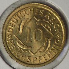 German 1935A 10 Reichspfennig coin - Brilliant Uncirculated