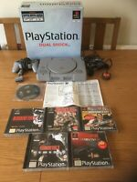 PLAYSTATION 1 (PS1) BOXED CONSOLE AND RESIDENT EVIL GAMES BUNDLE / JOB LOT X 5