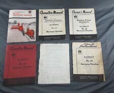 New Listing1954 Ih International Harvester McCormick No 64 Harvester Thresher Manuals ~ 6