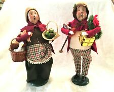 New Listing2 Byers Choice Carolers Lady with Goose & Apples, Gent with Presents 1995