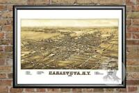 Old Map of Canastota, NY from 1885 - Vintage New York Art, Historic Decor