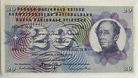 SUISSE - 20 FRANCS (1971) SERIE 78 R - Billet de banque // SPL (N°001137)
