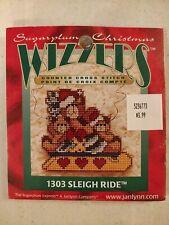Lot450 Vintage Sugarplum Christmas Cross Stitch Kit Sleigh Ride Ornament Janlynn