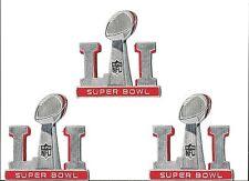 Super Bowl 51 LI Patch New England Patriots lot of 3