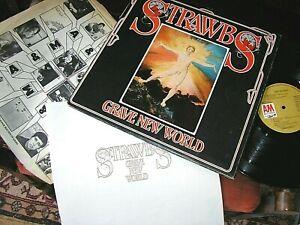 STRAWBS -    Grave New World,    ORIGINAL 1972 UK LP + BOOK / inner... NICE COPY