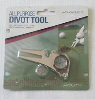 NEW Golf Divot Tool by Acuity All Purpose with Keychain Spike Wench Ball Marker