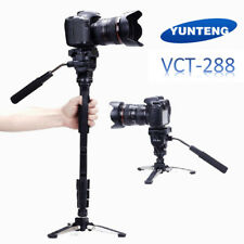 Yunteng VCT-288 Monopod & Fluid Pan Head & Unipod Holder Photography Tripod L0Q7