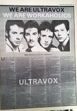 ULTRAVOX 'workaholics' 1980 ARTICLE / clipping