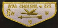 WOA CHOLENA OA LODGE 322 BSA MOBILE AREA COUNCIL GOOSE PATCH GMY FLAP