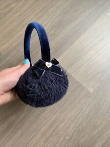 Ted Baker Girls Navy Faux Fur Earmuffs