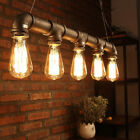 Industrial Chandeliers Steampunk Water PIPE Edison Bulb Pendant Light Pub Lamps