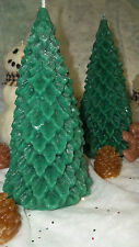"""HIGHLY SCENTED HOLLY LEAF CHRISTMAS TREE PILLAR CANDLE ~ 7"""" T ~ U CHOOSE SCENT"""