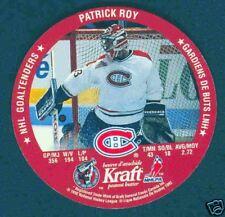 92-93 Kraft Complete Goalie Disc Set - Patrick Roy etc.