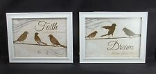 """2 Faith About Believing Dream follow your Bliss Bird Picture 7x9""""  Sign #37"""