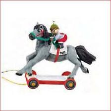 2011 Hallmark REPAINT Ornament A PONY FOR CHRISTMAS Race Horse Jockey Teddy Bear