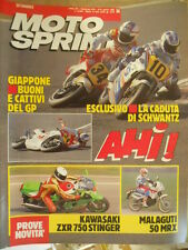 Motosprint 14 1990 Kawasaki ZXR 750 Stinger - Malaguti 50 RMX - Schwantz