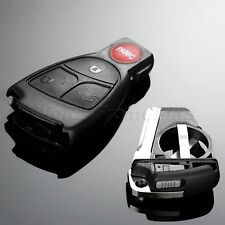 Car Remote Keyless Key Shell Case With Battery Clip Key Insert For Mercedes-Benz