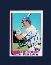 Steve Garvey signed Los Angeles Dodgers 1982 Topps baseball card