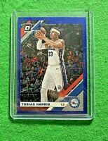 TOBIAS HARRIS PRIZM BLUE VELOCITY CARD PHILADELPHIA 76ERS 2019-20 DONRUSS OPTIC